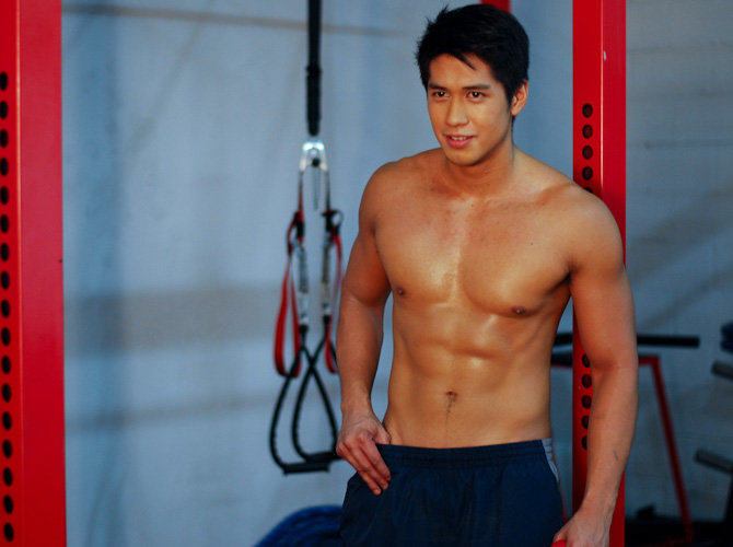 Aljur Abrenica at the gym